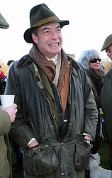 © Licensed to London News Pictures. 26/12/2016<br /> Nigel Farage at todays hunt.<br /> Boxing Day Hunt.<br /> Old Surrey Burstow and West Kent Hunt at Chiddingstone Castle, Chiddingstone in Kent.<br /> Photo credit :Grant Falvey/LNP