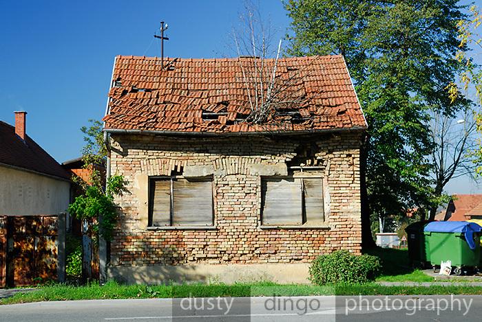 Damaged building. Petrinja, Croatia