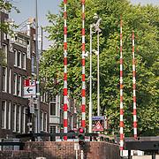 NLD/Amsterdam/20180628 - Rondvaart Amsterdam, halte bomen op een brug