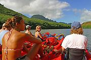 Kayaking, Huleia Stream, Kauai, Hawaii (editorilal use only, no model release)<br />
