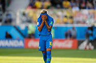 Neymar of Brazil reacts after missed a goal during the 2018 FIFA World Cup Russia, Group E football match between Brazil and Costa Rica on June 22, 2018 at Saint Petersburg Stadium in Saint Petersburg, Russia - Photo Tarso Sarraf / FramePhoto / ProSportsImages / DPPI