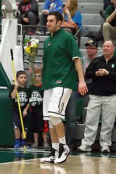 21 February 2015:   Pat Sodemann during an NCAA men's division 3 CCIW basketball game between the Elmhurst Bluejays and the Illinois Wesleyan Titans in Shirk Center, Bloomington IL