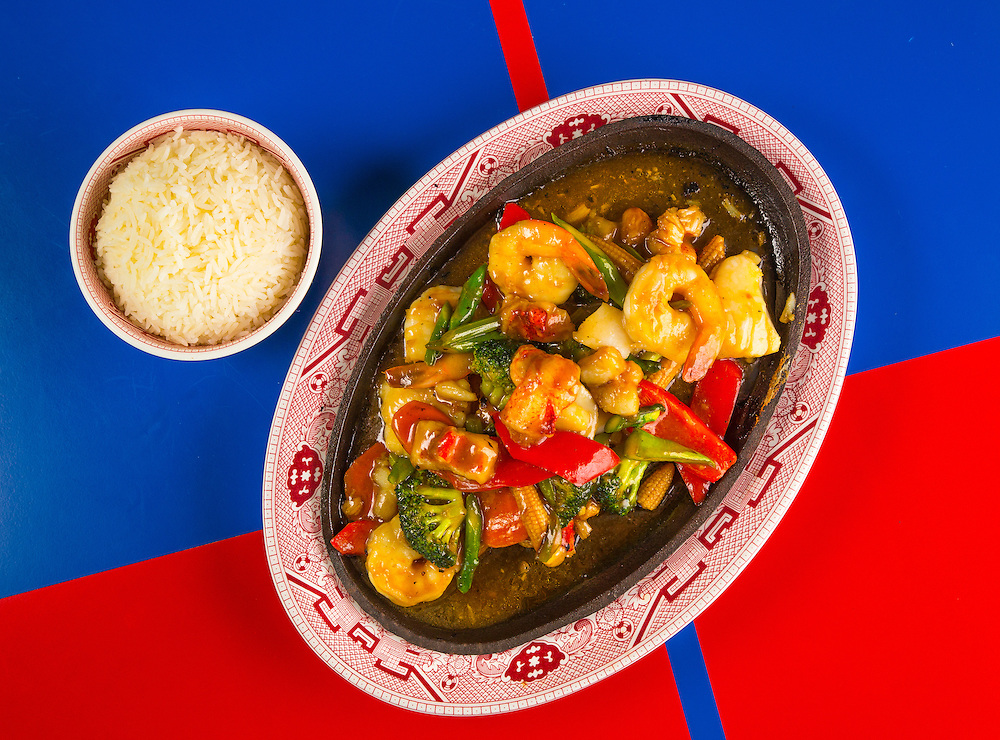 Sizzling Chinese seafood at The Continental restaurant in Miami Beach