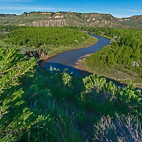 The Judith River flows through PN Ranch in the Upper Missouri River Breaks of central Montana.