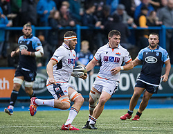 Nick Haining of Edinburgh Rugby<br /> <br /> Photographer Simon King/Replay Images<br /> <br /> Guinness PRO14 Round 2 - Cardiff Blues v Edinburgh - Saturday 5th October 2019 -Cardiff Arms Park - Cardiff<br /> <br /> World Copyright © Replay Images . All rights reserved. info@replayimages.co.uk - http://replayimages.co.uk