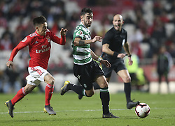February 7, 2019 - Na - Lisbon, 06/02/2019 - SL Benfica received this evening the Sporting CP in the Stadium of Light, in game the account for the first leg of the Portuguese Cup 2018/19 semi final. Cervi and Bruno Fernandes  (Credit Image: © Atlantico Press via ZUMA Wire)