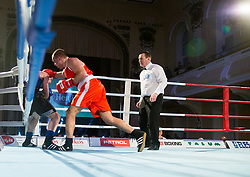 Simone Mattia Brusa of Italy (BLUE) fights against Aljaž Venko of Slovenia (RED) in Elite 75 kg Category during Dejan Zavec Boxing Gala event in Ljubljana, on March 11, 2017 in Grand Hotel Union, Ljubljana, Slovenia. Photo by Vid Ponikvar / Sportida