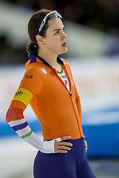 10-12-2016 NED: ISU World Cup Speed Skating, Heerenveen<br /> 1500 m women / Marrit Leenstra belandde met een tijd van 1.56,30 op de vierde plek