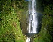 Waterfall with rainbow, Hawaii