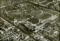 1932 Aerial of Hollywood Forever Cemetery on Santa Monica Blvd.