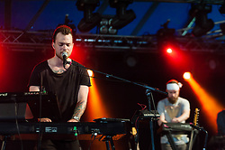 © Licensed to London News Pictures. 18/07/2014. Southwold, UK.   Asgeir performing live at Latitude Festival 2014 on Day 1. Asgeir Trausti Einarsson (born in 1992) is an Icelandic solo singer-songwriter whose music is described as melodic folk. The Latitude Festival is a British annual music festival.  Photo credit : Richard Isaac/LNP