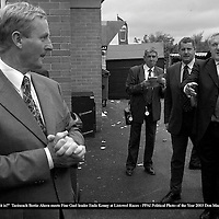 """""""Is that who I think it i?"""" the award winning picture of Taoiseach Bertie Ahern meeting up with Fine Gael leader Enda Kenny after the Guinness Kerry National at Listowel Races taken by Killarney photographer Don MacMonagle which will be on view durin g the PPAI exhibition at killarney library all next week.<br /> Picture by Don MacMonagle"""
