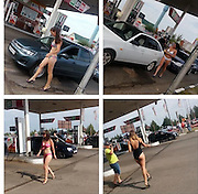 "A gas station in Tatarstan gives free gas to bikini wearing customers<br /> <br /> In three cities of Tatarstan, ""refill for a bikini"" campaign was held. It was organized by a network of the local gas stations.<br /> <br /> Participants in bathing suits and high heels drove to the gas stations for a free refill. Among them were men, who proudly marched to the counter to get free gasoline. Lovers of freebies formed a long line of cars near gas station.<br /> <br /> The campaign lasted from noon to 3 pm and according to organizers, almost 200 vehicles participated in three hours.<br /> ©Exclusivepxi Media"