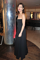 Actress ELIZABETH McGOVERN at the Costa Book Awards 2010 held at Quaglino's, 16 Bury Street, London on 25th January 2011.