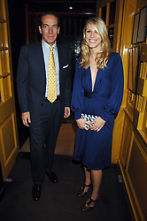 PETRINA KHASHOGGI and PEPPINO GUILLOT at a dinner hosted by fashion label Issa at Annabel's, Berekely Square, London on 24th April 2007.<br /><br />NON EXCLUSIVE - WORLD RIGHTS