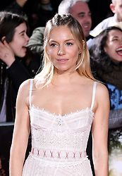 Sienna Miller arriving at the UK Premiere of Lost City of Z, The British Museim, London.