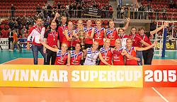 20151011 NED: Supercup VC Sneek - Sliedrecht Sport,  Doetinchem<br /> VC Sneek verslaat Sliedrecht Sport met 3-2 en pakt de eerste prijs van het seizoen / Sneek pakt de Supercup