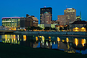 The Dayton, Ohio Skyline.