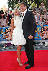 David Hasselhoff and Hayley Roberts arriving for the premiere of Keith Lemon The Film in London, Monday, 20th August 2012. Photo by: Stephen Lock / i-Images