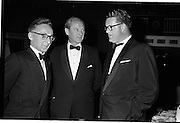 20/08/1962<br /> 08/20/1962<br /> 20 August 1962 <br /> Efficient Distribution Ltd. Dinner at Shelbourne Hotel, Dublin. Chatting during the reception were (l-r): Dave Tyndall; Jack Lynch, Minister for Industry and Commerce and Clayton-Love.