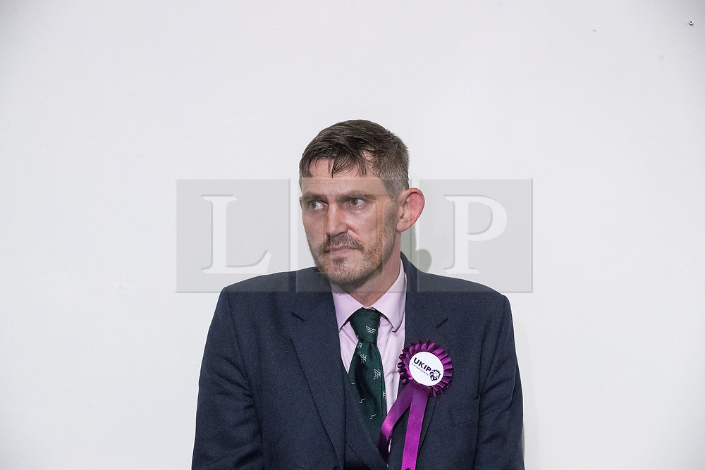 © Licensed to London News Pictures . 29/09/2017 . Torquay , UK . GAWAIN TOWLER UKIP Press officer at a post-victory press conference . The UK Independence Party Conference at the Riviera International Centre . UKIP is due to announce the winner of a leadership election which has the potential to split the party . Photo credit: Joel Goodman/LNP