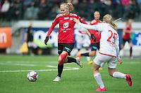 Fotball<br /> 22.09.2018<br /> Toppserien<br /> Sandviken - Arna Bjørnar<br /> Maria Brochmann (L) , Arna Bjørnar <br /> Karoline Bakke (R) , Sandviken<br /> Foto: Astrid M. Nordhaug, Digitalsport