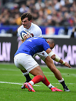 Rugby Union - 2020 Guinness Six Nations Championship - France vs. England<br /> <br /> England's George Furbank is tackled by Frances's Gael Fickou, at The Stade de France, Paris.<br /> <br /> COLORSPORT/ASHLEY WESTERN