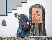 """Ośrodek """"Pogranicze - sztuk, kultur, narodów"""" w Sejnach. Wejście do domu talmudycznego Polska<br /> """"Borderlands - Arts, Cultures, Nations"""" Center in Sejny, Poland"""