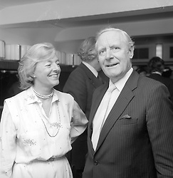 The Late Attorney General MICHAEL HAVERS and LADY HAVERS at a reception in London in 1981.