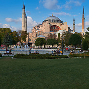 Antique Byzantine church of Hagia Sophia in Istanbul, Turkey