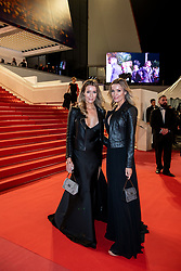 """Twin sisters Nicole and Barbara Kimpel seen leaving screening of """"Pain And Glory"""" during the 72nd annual Cannes Film Festival on May 17, 2019 in Cannes, France. Photo by Ammar Abd Rabbo/ABACAPRESS.COM"""