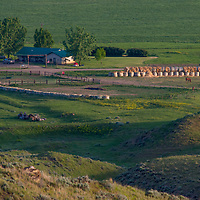 A ranch house at the PN Ranch in the Upper Missouri River Breaks of central Montana.