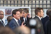 Manuel Valls Obsèques de Jacques Chirac Lundi 30 Septembre 2019 église Saint Sulpice Paris