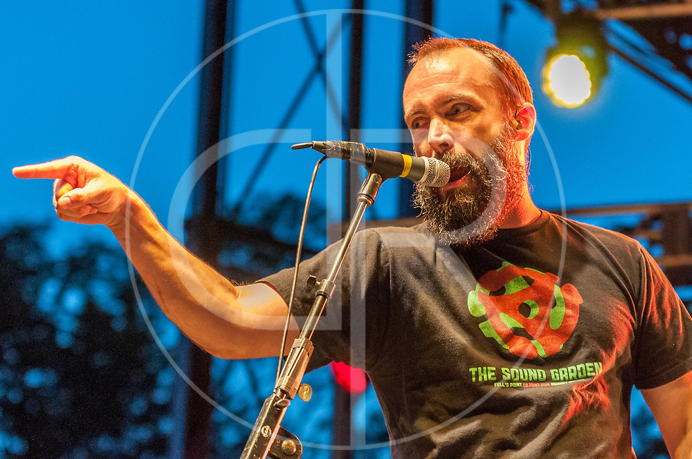 BALTIMORE United States - September 14, 2013: Clutch frontman Neil Fallon, performs at The Shindig, in Baltimore's historic Carroll Park
