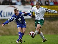 Fotball , <br /> Adeccoligaen  6  Mai  2007 , Briskeby Gressbane , <br /> HamKam  v  FK Haugesund  3-3<br /> <br /> Foto:Dagfinn Limoseth - Digitalsport<br /> <br /> Markus Ringberg , HamKam og Kevin Nicol , Haugesund