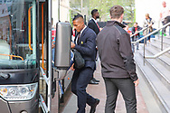 Antonio Valencia Midfielder of Manchester United departs the Lowry hotel before the Manchester United vs Celta Vigo match  at Old Trafford, Manchester, United Kingdom on 11 May 2017. Photo by Phil Duncan.