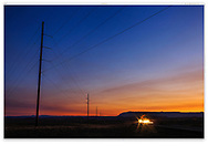 A random act of photography, A car at night somewhere north and west of Green River Utah, USA