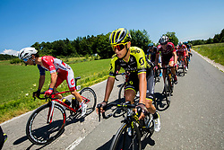Ziga Groselj (SLO) of Adria Mobil and Jhoan Esteban Chaves Rubio (COL) of Mitchelton - Scott during 2nd Stage of 26th Tour of Slovenia 2019 cycling race between Maribor and  Celje (146,3 km), on June 20, 2019 in Celje, Maribor, Slovenia. Photo by Vid Ponikvar / Sportida