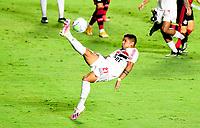 SAO PAULO, BRAZIL - FEBRUARY 25: Antonio Galeano of Sao Paulo FC in action ,during the Brasileirao Serie A 2020 match between Sao Paulo FC and CR Flamengo at Morumbi Stadium on February 25, 2021 in Sao Paulo, Brazil. (Photo by MB Media/BPA)