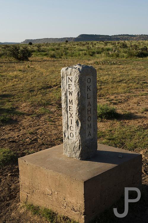 Dividing line between New Mexico, Oklahoma and Colorado