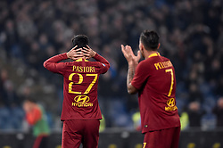 March 2, 2019 - Rome, Rome, Italy - Javier Pastore of AS Roma looks dejected during the Serie A match between Lazio and Roma at Stadio Olimpico, Rome, Italy on 2 March 2019. (Credit Image: © Giuseppe Maffia/NurPhoto via ZUMA Press)