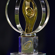 The IRB Junior World Championship trophy on display during the Australia V New Zealand Final match at the IRB Junior World Championships in Argentina. New Zealand won the match 62-17 at Estadio El Coloso del Parque, Rosario, Argentina,. 21st June 2010. Photo Tim Clayton...