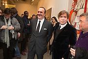 SIMON LEE; GEORGE CONDO; , George Condo - private view . Simon Lee Gallery, 12 Berkeley Street, London, 10 February 2014