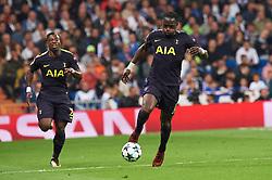 UEFA Champions League match between Real Madrid and Tottenham Hotspur at Santiago Bernabeu on October 17, 2017 in Madrid. 17 Oct 2017 Pictured: Moussa Sissoko (midfielder; Tottenham Hotspur). Photo credit: Jack G / MEGA TheMegaAgency.com +1 888 505 6342