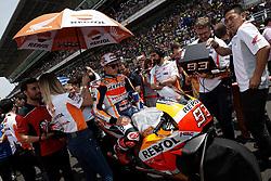 June 17, 2018 - Barcelona, Catalonia, Spain - Marc Marquez (93) of Spain and Repsol Honda Team during the race day of the Gran Premi Monster Energy de Catalunya, Circuit of Catalunya, Montmelo, Spain. 17th June of 2018. (Credit Image: © Jose Breton/NurPhoto via ZUMA Press)