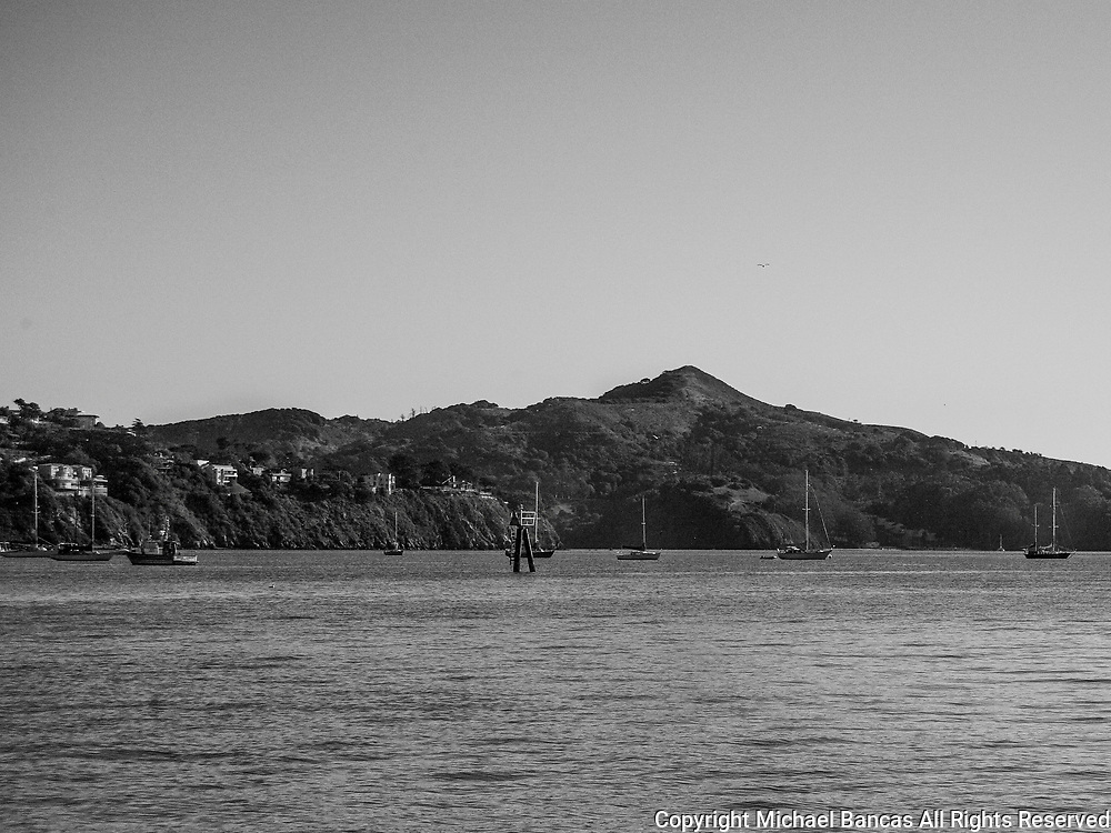 Sausalito, view of Angel island