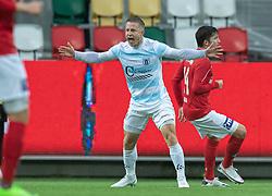 Jeppe Kjær (FC Helsingør) under kampen i 1. Division mellem Silkeborg IF og FC Helsingør den 21. november 2020 i JYSK Park (Foto: Claus Birch).