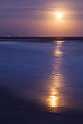 Beaver Moon rising over ocean