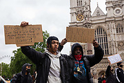 Tens of thousands of people attend a Black Lives Matter protest which was mainly peaceful on 6th June 2020 in London, United Kingdom. Despite the Covid19 pandemic, and sparked by the killing of George Floyd by Police in the USA, there have been protests internationally demanding the end to police killings, mass incarceration and racial inequality in society.
