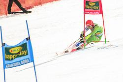 March 9, 2019 - Kranjska Gora, Kranjska Gora, Slovenia - Zan Kranjec of Slovenia in action during Audi FIS Ski World Cup Vitranc on March 8, 2019 in Kranjska Gora, Slovenia. (Credit Image: © Rok Rakun/Pacific Press via ZUMA Wire)